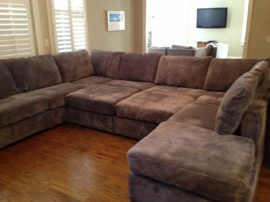 Sectional With Sharpei Velvet Grey Covers Lovesac New