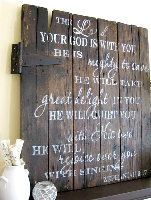 So Sweet: something about fall says paint barn wood...