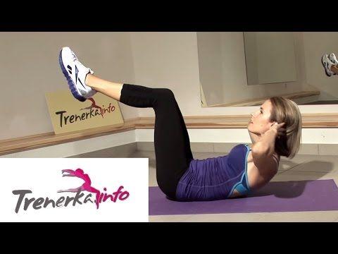 Brzuszki - Spinanie mięśni brzucha ze zgiętymi nogami - YouTube