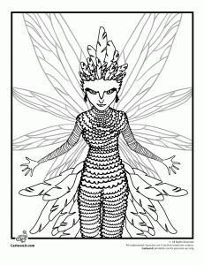 Tooth Fairy Rise of the Guardians Coloring Page  paper