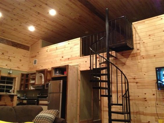 How one man built his pole barn house house interiors for Pole barn interior ideas