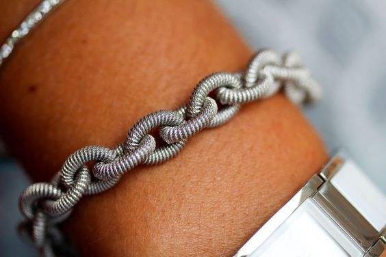 sterling silver heavy link bracelet *made in Italy  http://www.jamiestdm.com/shop/silver-heavy-link-bracelet-made-in-italy