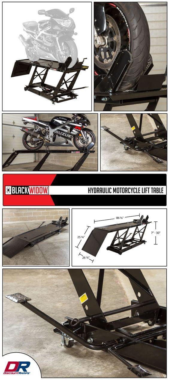 Black Widow Hydraulic Motorcycle Lift Table 1 000 Lb Capacity Motorcycle Lift Table Lift Table Bike Lift