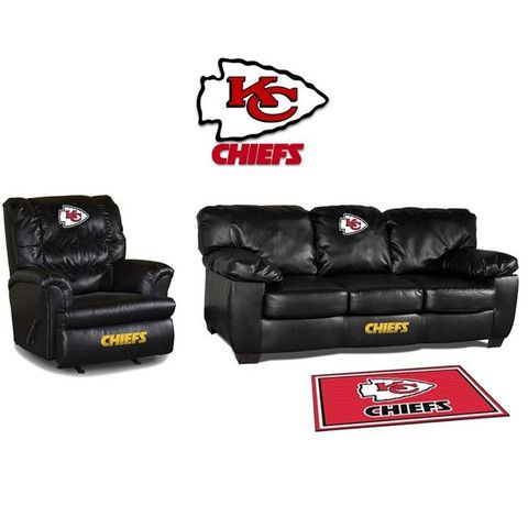Use this Exclusive coupon code: PINFIVE to receive an additional 5% off the Kansas City Chiefs Leather Furniture Set at SportsFansPlus.com