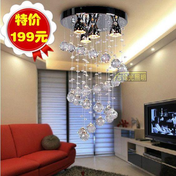 Aliexpress.com : Buy Stair lamp pendant light 2 floor room pendant light spiral crystal pendant light dining room pendant light lighting lamps on Angel Tears  lighting Co.,Ltd.. $411.72