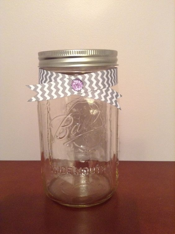A dressed up little ball jar to hold quotes, prayers, and little things I want to remember. I plan to pull these out at the end of the year and reflect!