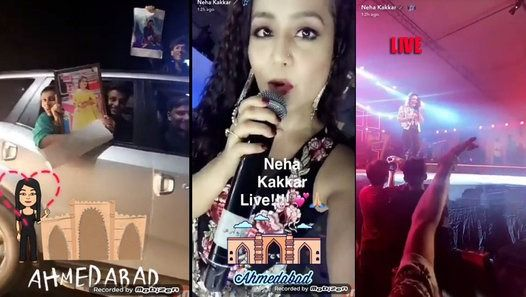 Omg Neha Kakkar Crazy Fans Follow Her Car On Road Neha Kakkar Crazy Fans Video