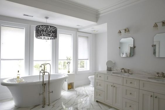 HGTV - love this bathroom so light and calming