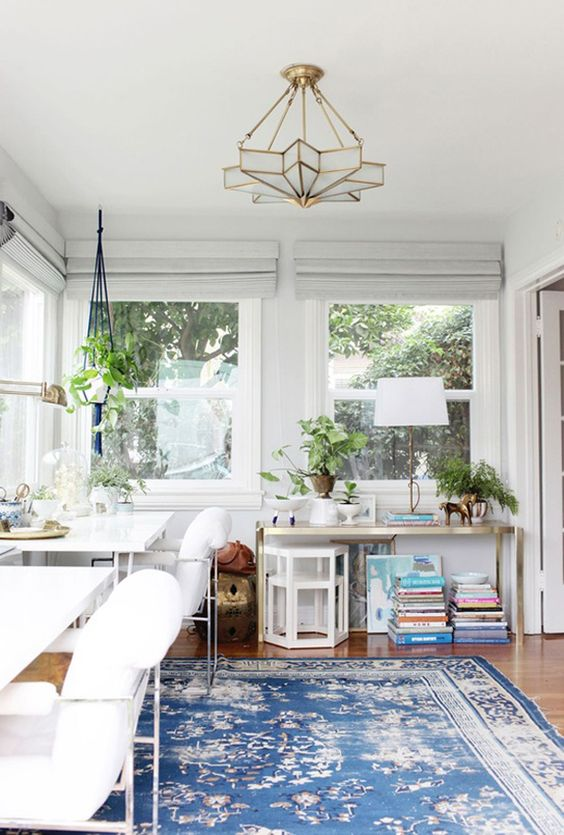 eclectic modern bohemian home office