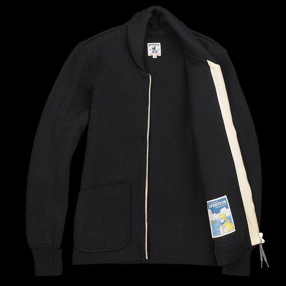 Arpenteur | Wool Roscoff Jacket in Navy