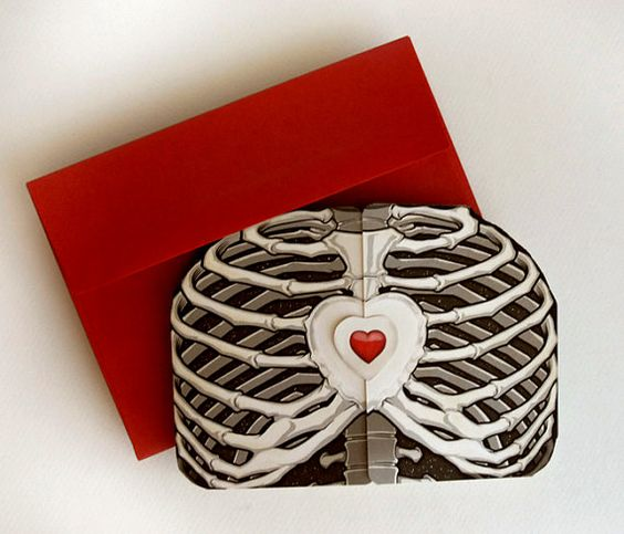 Ribcage Heart Custom Scratch Off Card by crankbunny