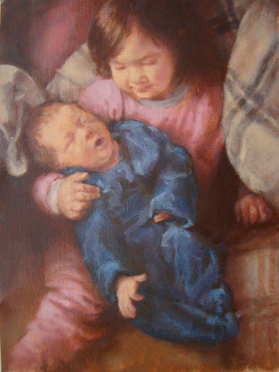 """Arte realista - Alexandre Greghi:  Galeria - Pinturas a óleo Obra """"Irmãs"""""""