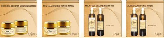 Gold Collection: Milk Face Cleanser, Clarifying Toner, Bee Venom Face Cream & Bee Venom Mask