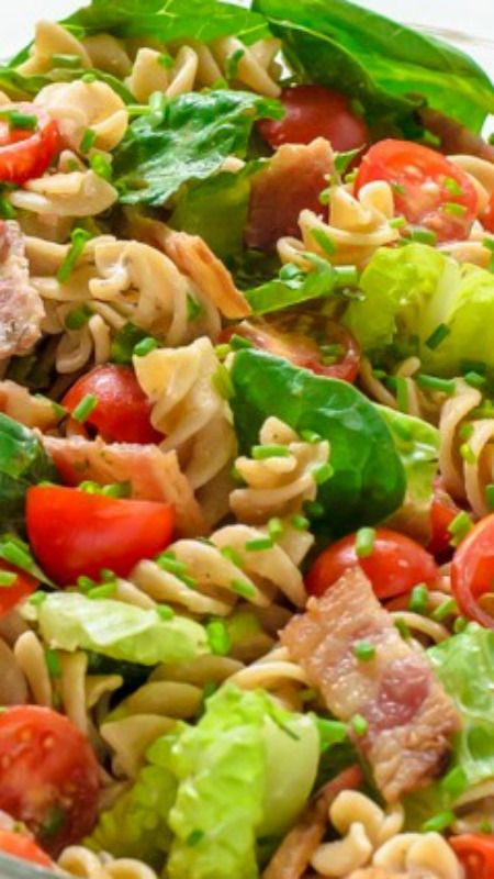 BLT Pasta Salad with Creamy Ranch Dressing ~ Easy to make...  It is guaranteed to send you home from any gathering with an empty bowl and full list of guests requesting the recipe.