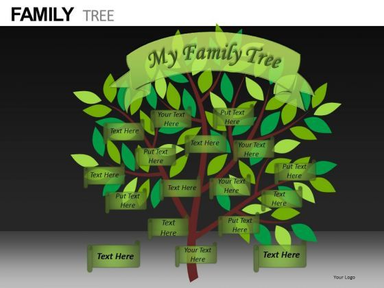 Editable family tree template editable ppt slides family for Free editable family tree template