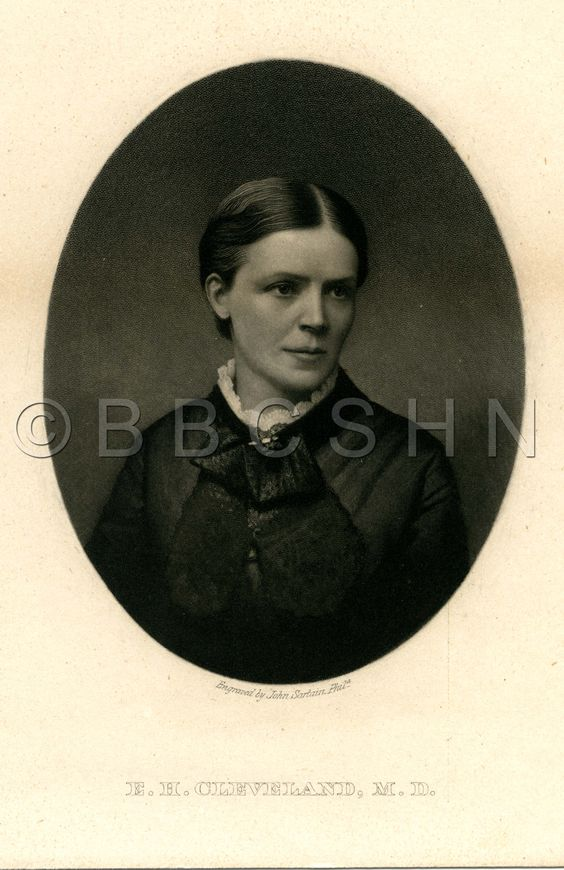 Emeline H. Cleveland, M.D., first resident physician and superintendent of the Woman's Hospital of Philadelphia (1862-1868). Image courtesy of the Barbara Bates Center for the Study of the History of Nursing.