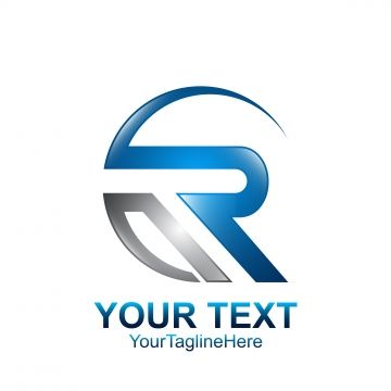 Initial Letter R Logo Template Colored Grey Blue Swoosh Design Logo Templates Logo Design Typography Dental Logo Design