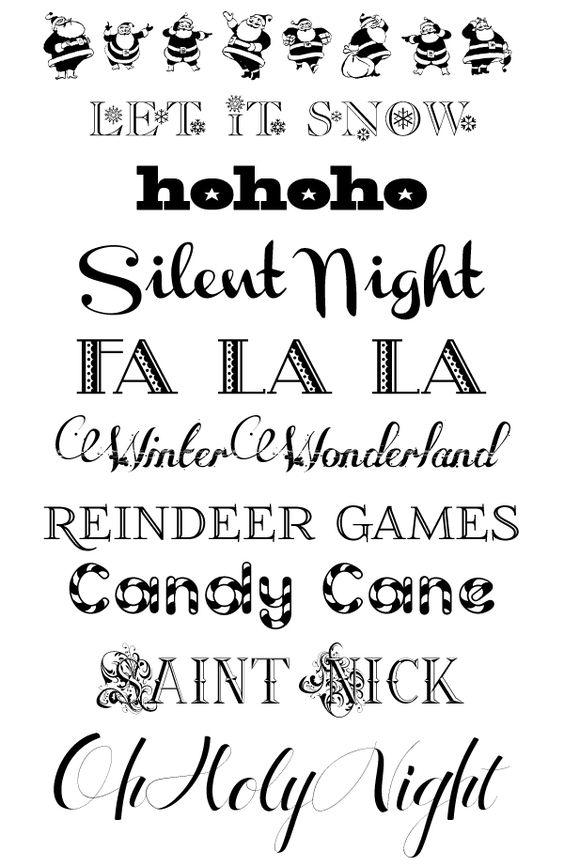 christmas fonts ~ free downloads! ~ http://designeditor.typepad.com/design_editor/2011/12/font-friday-free-christmas-fonts.html
