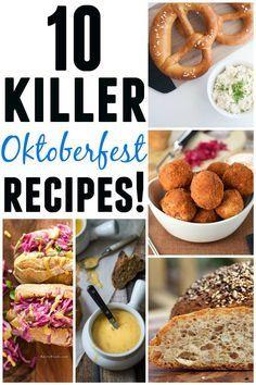 10 Killer Oktoberfest recipes! Pretzels, brats, beer! 10 of the BEST Oktoberfest recipes around the web. Check em out!