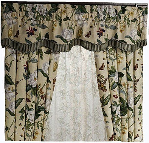 Waverly Garden Images Parchment Fairfield Valance How To Clean Pillows Garden Images Soft Furnishings