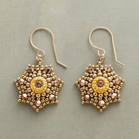 Miguel Ases brick stitch earrings from the Sundance Catalog: STARLIT EARRINGS