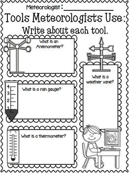 Printables Weather Tools Worksheet weather teaching notebooks and literacy freebies in the download preview research writing unit this is