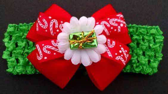 Christmas Headband Baby Headband Candy by GloriaMillerCreation