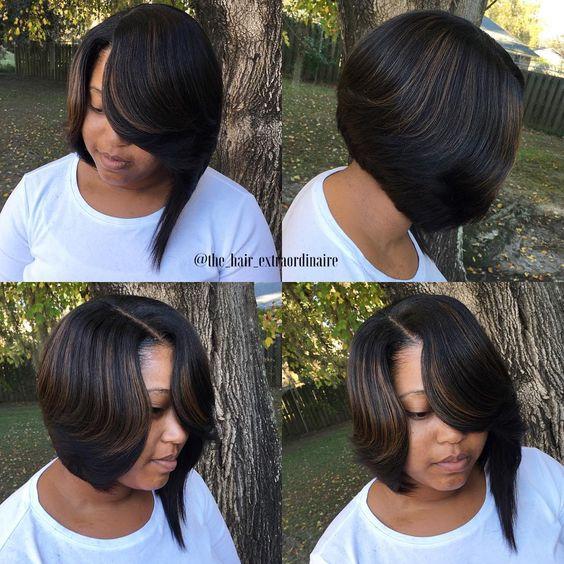 """✂️✂️ #hair #hairgod #hairstylist #hairextraordinaire #extraordination #slaybama #sewin #installment #minimalleaveout #bobs #bobcut #bobking…"""
