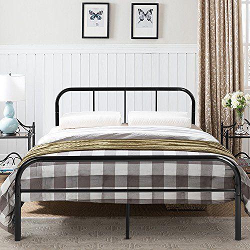 Greenforest Full Size Bed Frame Headboard Stable Metal Slats