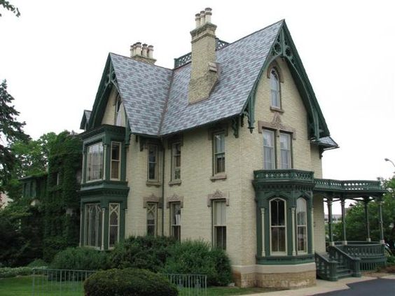 Gothic Victorian House | Lake-Peterson House - Rockford, Illinois - U.S. National Register of ...