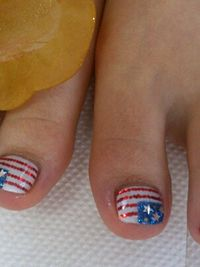 4th of july nails toes
