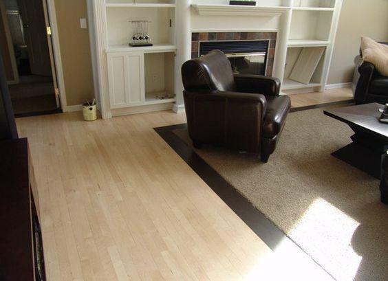 Vinyl Floor Inlays : Wood floors with carpet inlay for the den crescent walk