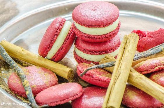 Macarons mit Zimtmousse, Anleitung und Rezept.