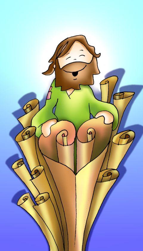 Jesús enrrolla los mismos rollos de otro modo