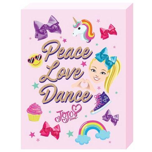 Jojo Siwa 12 X16 Peace And Love Wall Decor Target Decoracion Hogar Decoracion De Unas Dibujos