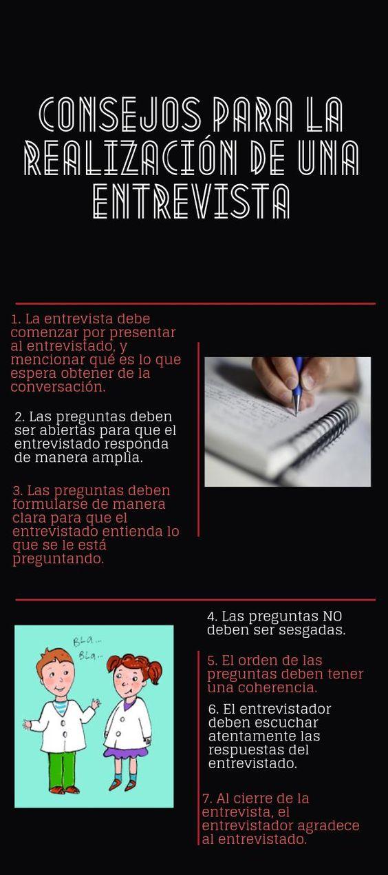 CONSEJOS PARA LA REALIZACIÓN DE UNA ENTREVISTA | @Piktochart Infographic