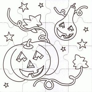 Cómo hacer un puzzle de halloween realizando manualidades para niños