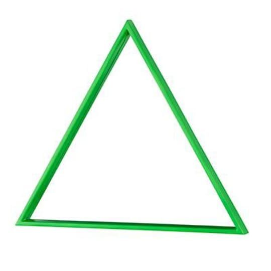Electric Avenue Mirror (Green Triangle)