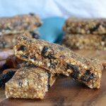 3 Ingredient Almond Cherry Pie Bars #vegan #nobake #healthyrecipes