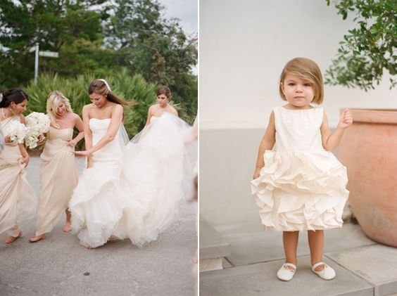 Andrea &amp- Scott - Romantic- Brides and bridesmaids and The flowers