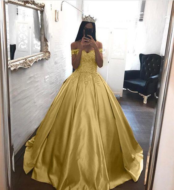 Elegant Lace Off The Shoulder Ball Gowns Satin Wedding Dresses 2018