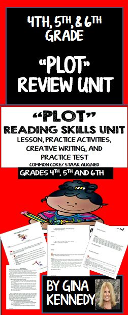 A thorough review of the important reading text structure skill, identifying the plot in text. Excellent for introducing this concept, as a review, or as a reading intervention. 100% Common Core and STAAR aligned.  Students will review strategies to recognize the plot of a story and review rising actions and the story climax. They will complete activities such as identifying the plot to popular stories and passages.. A bonus plot creative writing activity and a pl...$