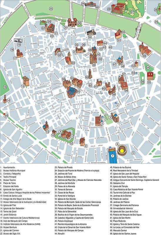 Mapas De Valencia Espanha Mapa Turistico O Turista E Viagens