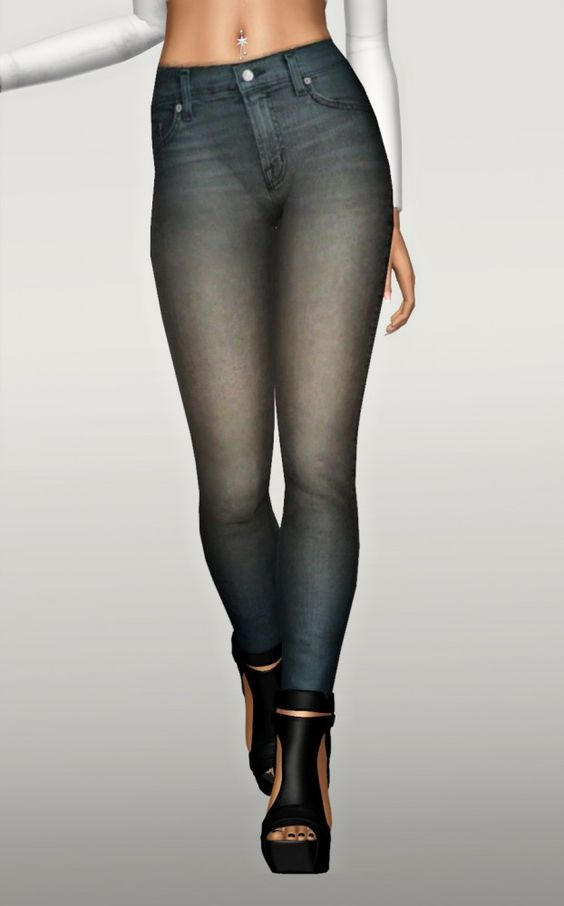 Chisimi's skinny jeans on a new mesh by Fanasker - Sims 3 Downloads CC Caboodle: