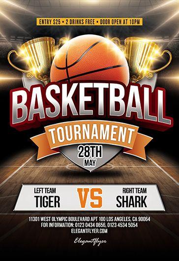 Basketball Tournament Psd Flyer Template Facebook Cover