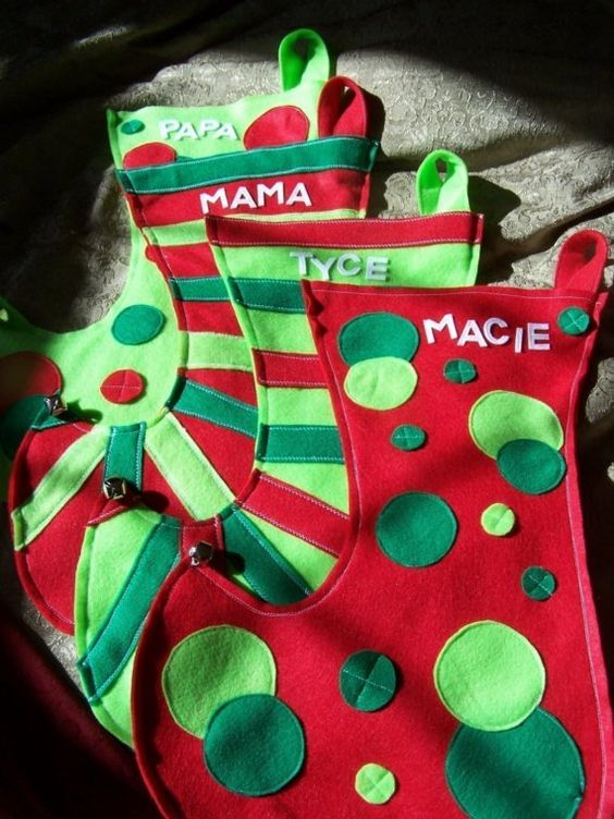 cute stocking idea using felt: