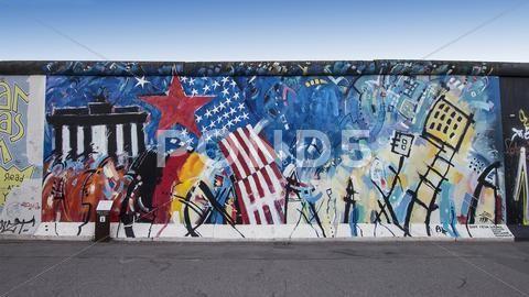 Graffiti On Berlin Wall At East Side Gallery Stock Photos Ad Wall East Graffiti Berlin East Side Gallery Berlin Wall Graffiti