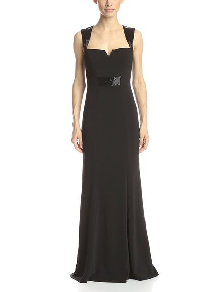 CARMEN MARC VALVO INFUSION Women's Sleeveless Notched Neck Gown at MyHabit
