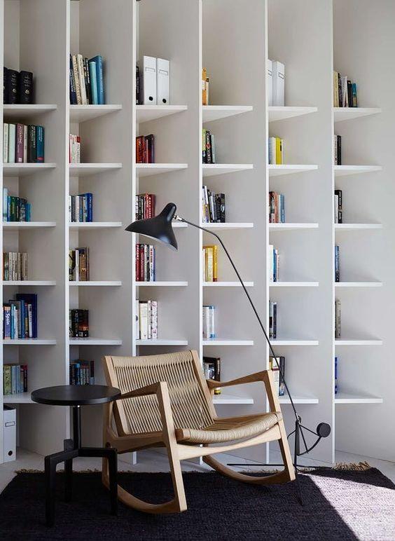本棚 壁一面 アイデア インテリア コーディネート例 イメージ