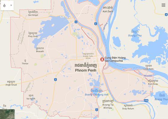 Vị trí của cung điện Hoàng gia Campuchia